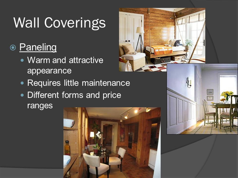 Wall Coverings Paneling Warm and attractive appearance