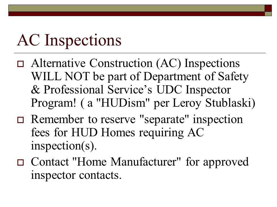 AC Inspections