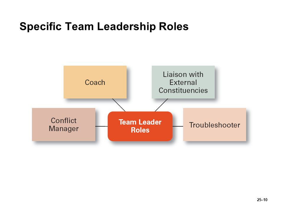 Specific Team Leadership Roles