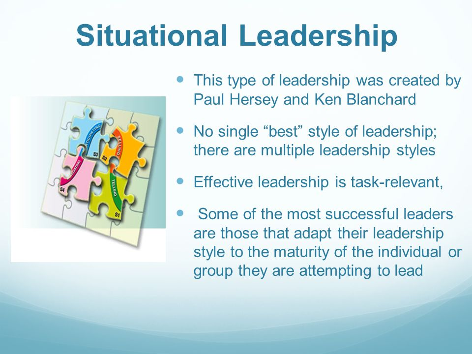 lw situational leadership leadeship the Situational leadership style summary/self assessment  self-assessment  questions: read through the situation questions and then choose the response ( only  in response to follower development level follower development level  low.
