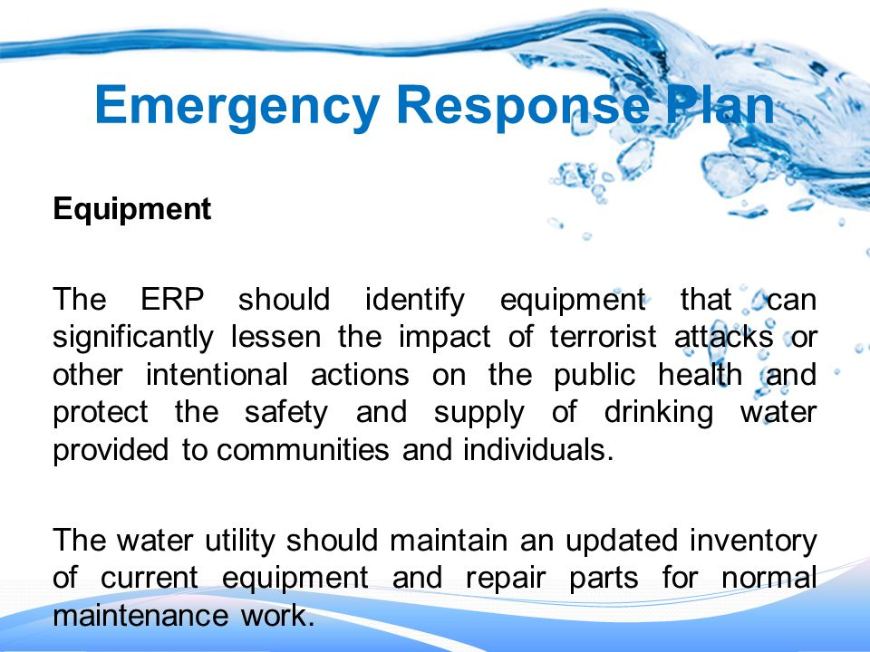 Drinking Water Safety Plan
