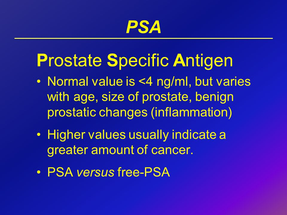 prostate specific antigen and prostate size with age Prostate-specific antigen (psa) is a substance produced by the prostate gland elevated psa levels may indicate prostate cancer , a noncancerous condition such as prostatitis , or an enlarged.