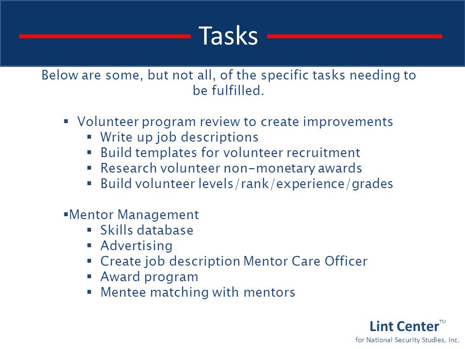 volunteer program ppt