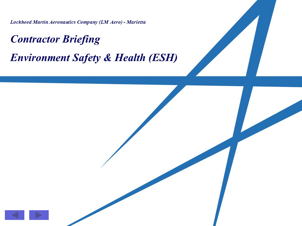 Environment Safety & Health (ESH)