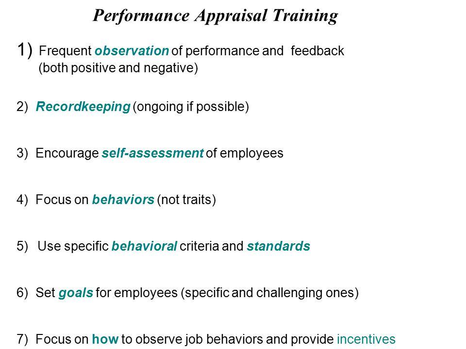 training and job performance
