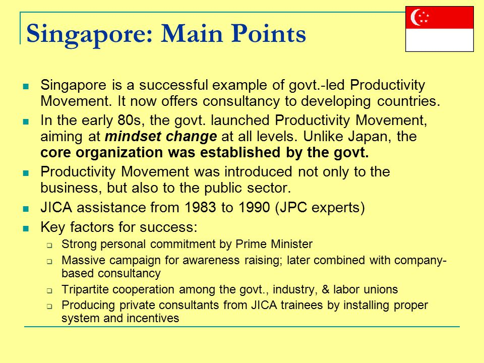 Singapore: Main Points