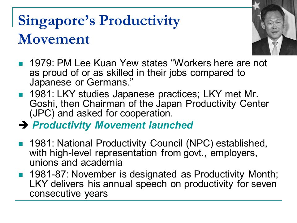 Singapore's Productivity Movement