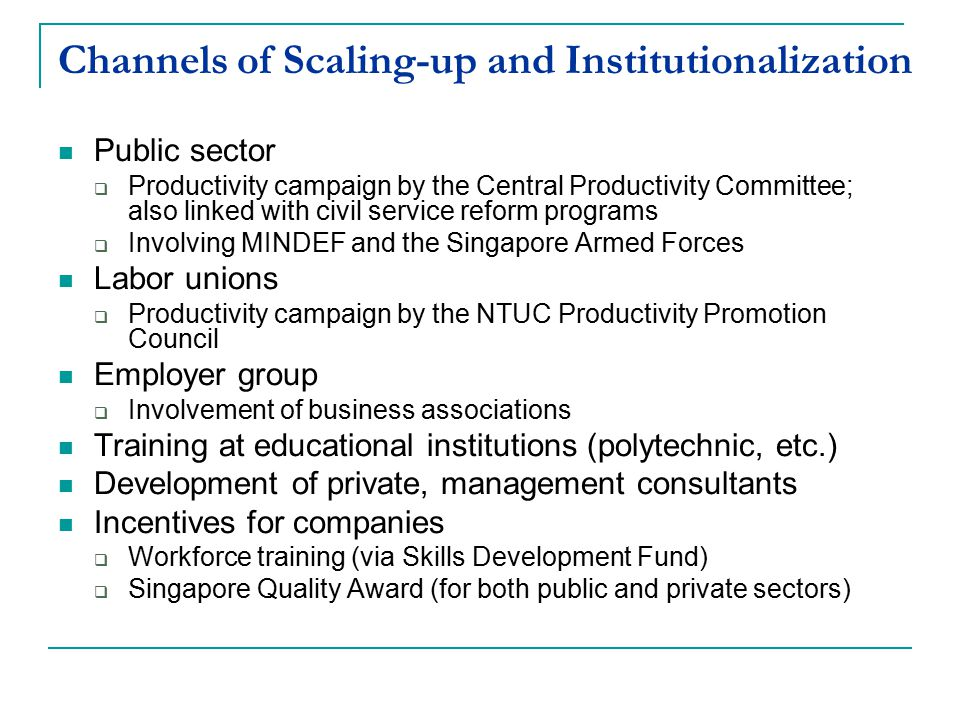 Channels of Scaling-up and Institutionalization