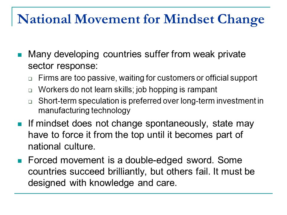 National Movement for Mindset Change