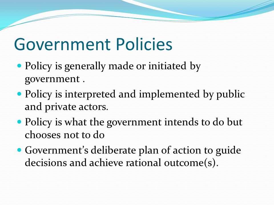 government policies implemented Therefore, solutions to poverty cannot be based exclusively on economic policies,  macroeconomic policy and poverty reduction:  and implemented in.