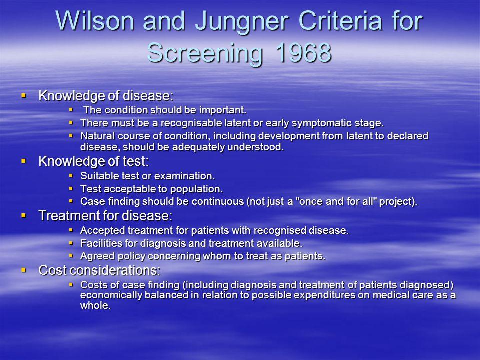 wilson en jungler criteria