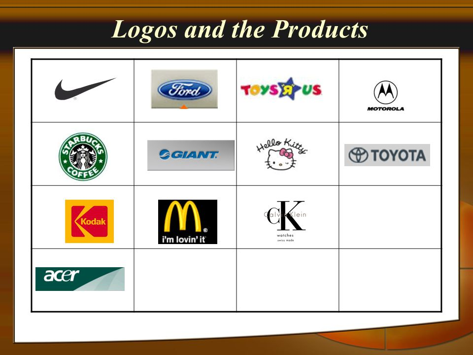 Logos and the Products