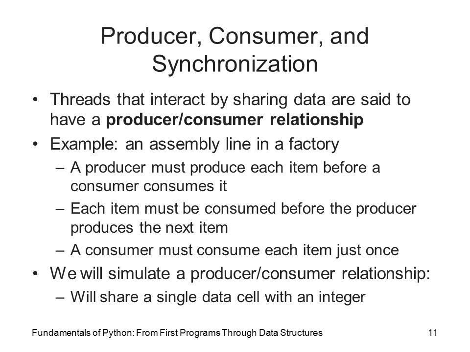 what is a producer and consumer relationship