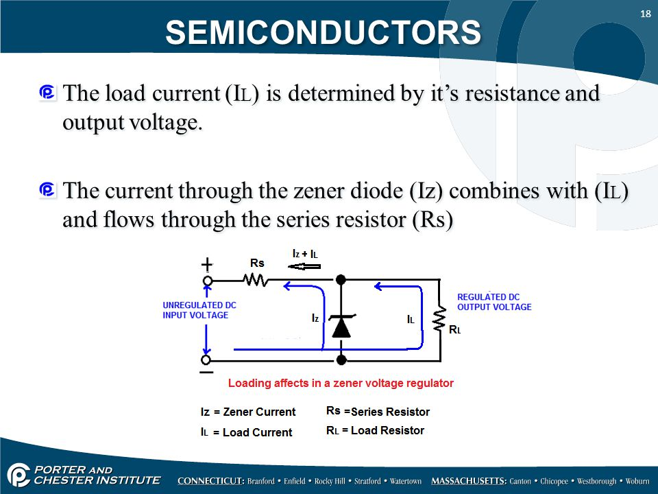 SEMICONDUCTORS The load current (IL) is determined by it's resistance and output voltage.