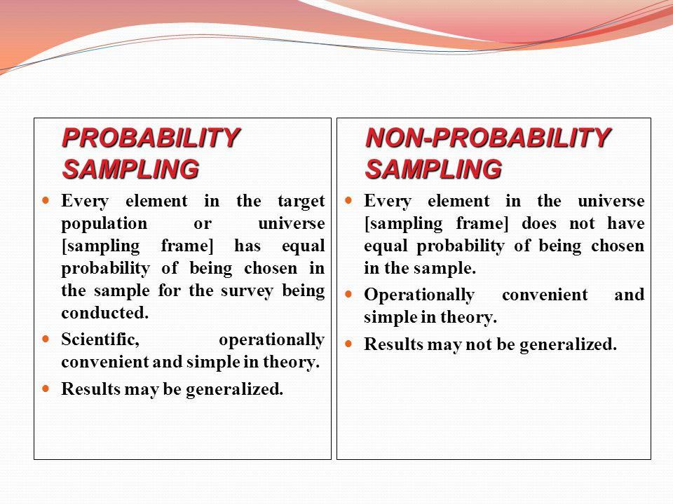 non probability sampling I am interesting in calculating sample size for a descriptive design, quantitative research method study i will use a nonprobability (purposive) sampling technique realizing that a.