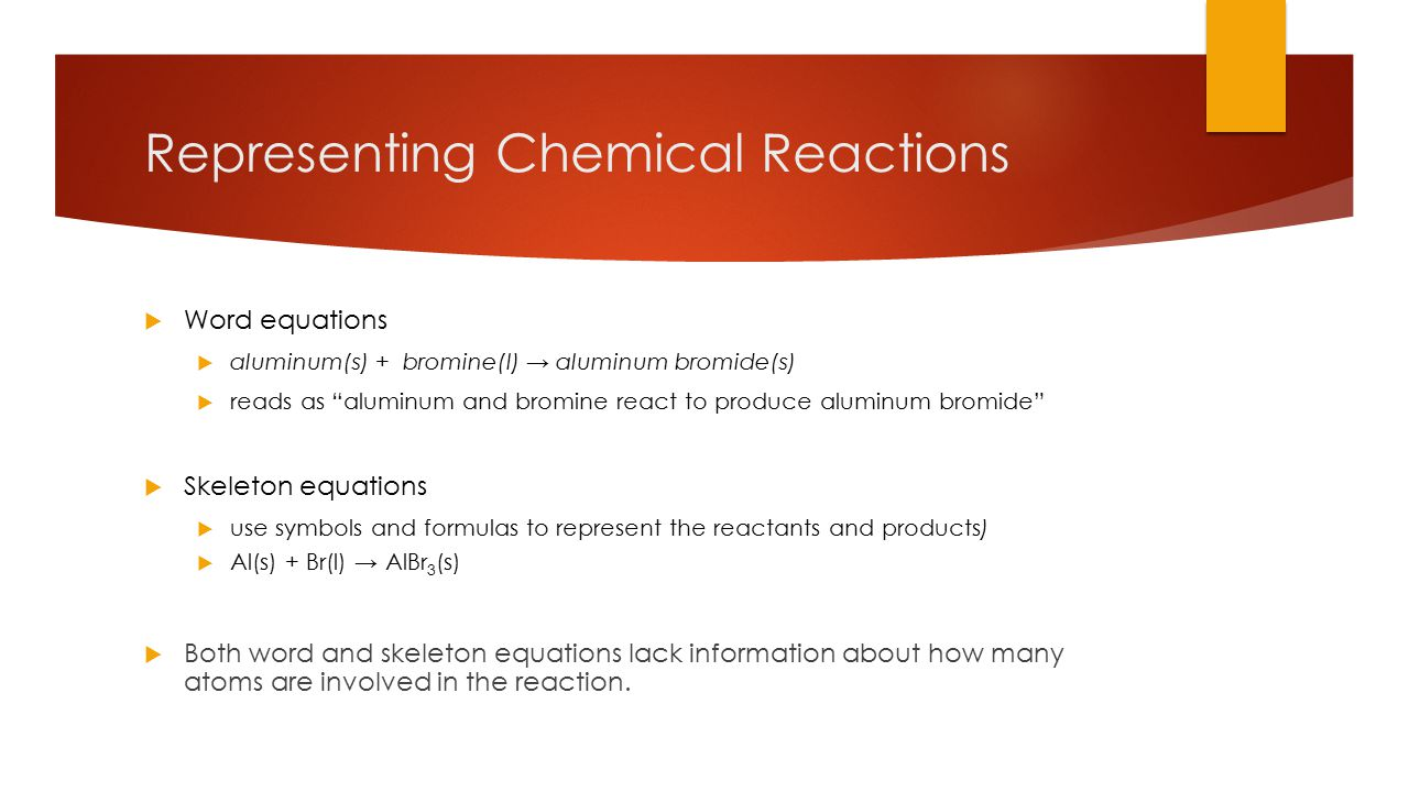 Chemical reactions chapter ppt video online download representing chemical reactions biocorpaavc Choice Image