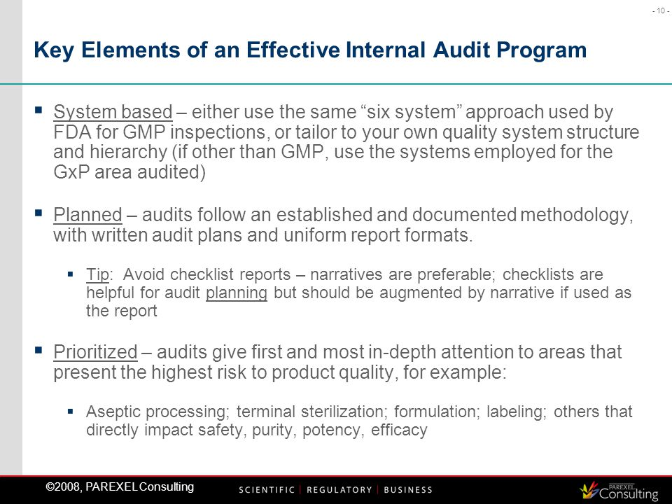 Effective Internal GMP Auditing Strategies - ppt download
