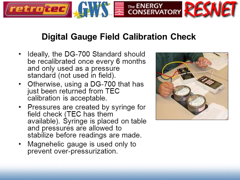 Digital Gauge Field Calibration Check