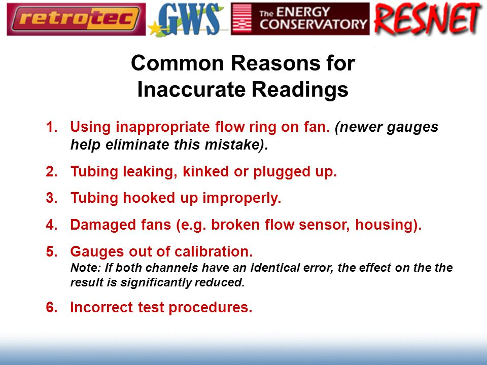 Common Reasons for Inaccurate Readings