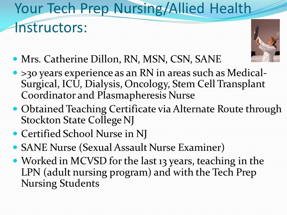 conclusion of lpn to rn A licensed practical nurse (lpn) may request advanced placement in the associate degree nursing program the ad nursing program prepares students to take the nclex-rn exam for state licensure to practice as a registered nurse.