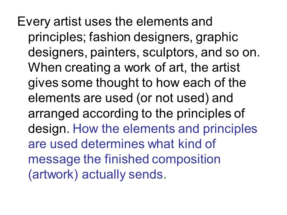 Graphic Design Elements And Principles : The elements and principles of design ppt video online
