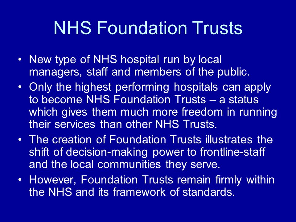 how to become a foundation trust
