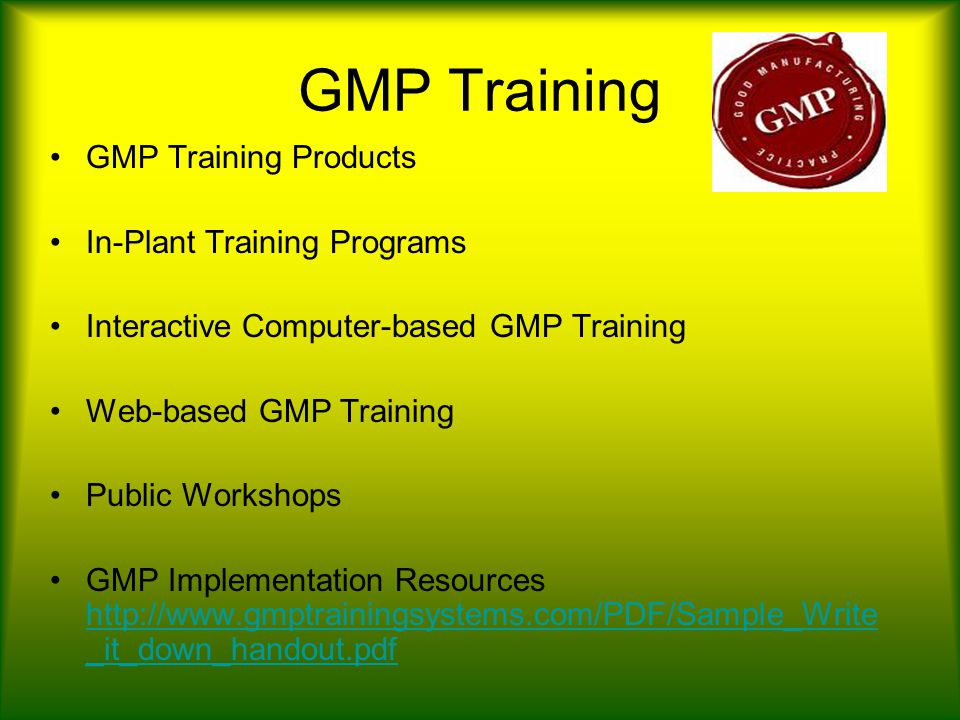 good manufacturing practices ppt video online download