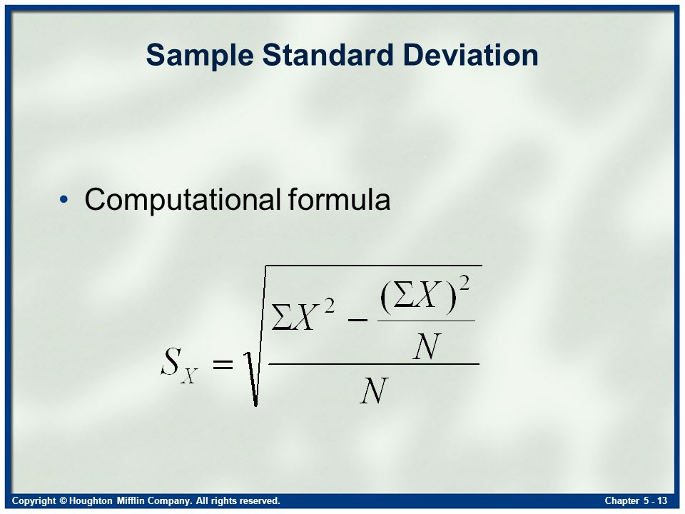 how to get variance and standard deviation
