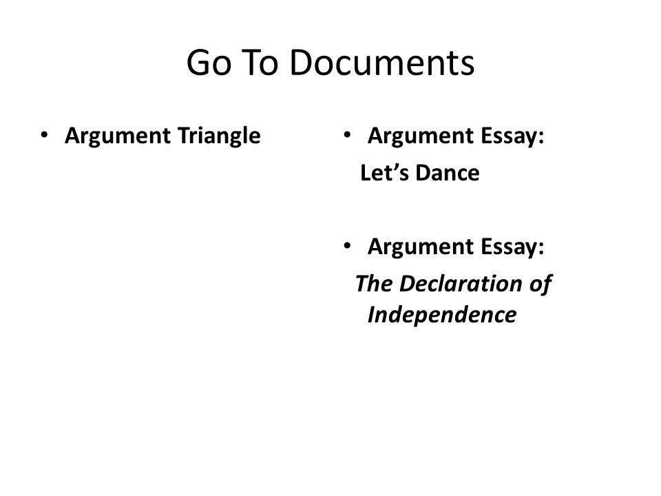 writing arguments let s dance by eva arce ppt video online go to documents argument triangle argument essay let s dance
