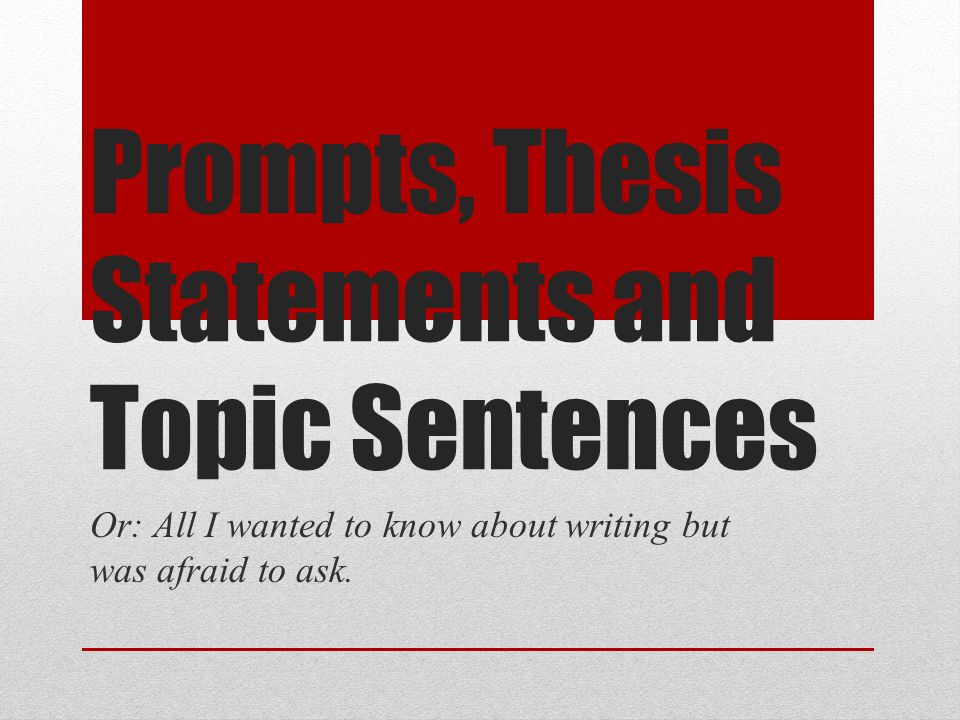 how to write a topic statement