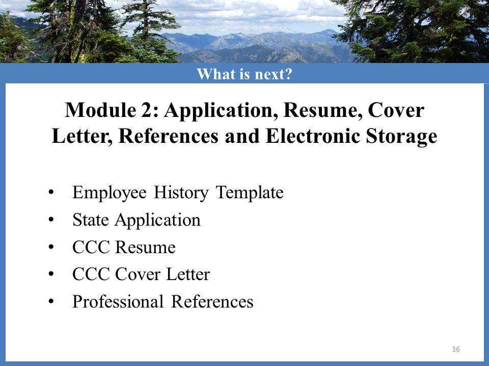 cover letter with references