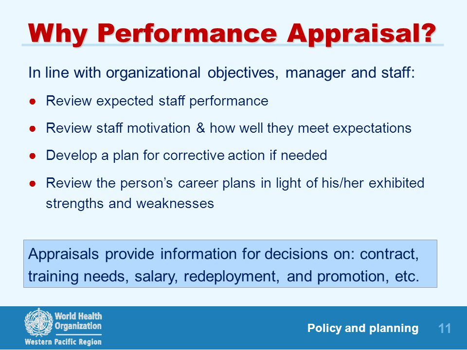 Why Performance Appraisal