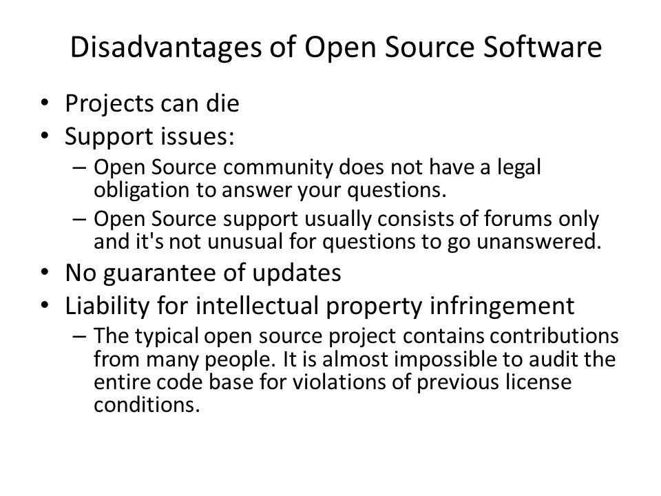 open source software advantages and disadvantages pdf