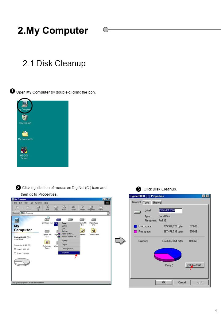 2.My Computer 2.1 Disk Cleanup