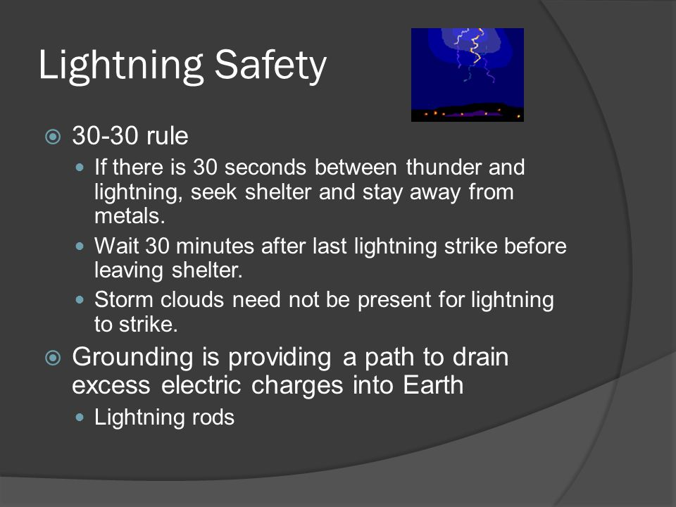 Lightning Safety 30-30 rule