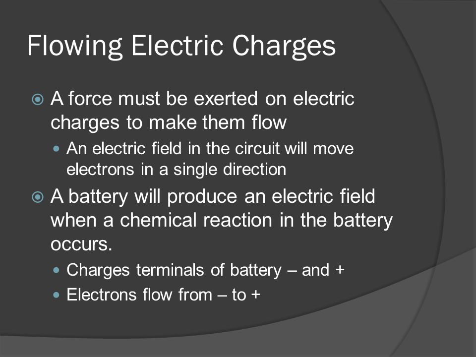 Flowing Electric Charges