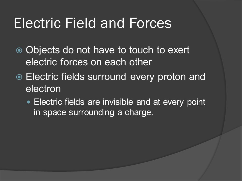 Electric Field and Forces