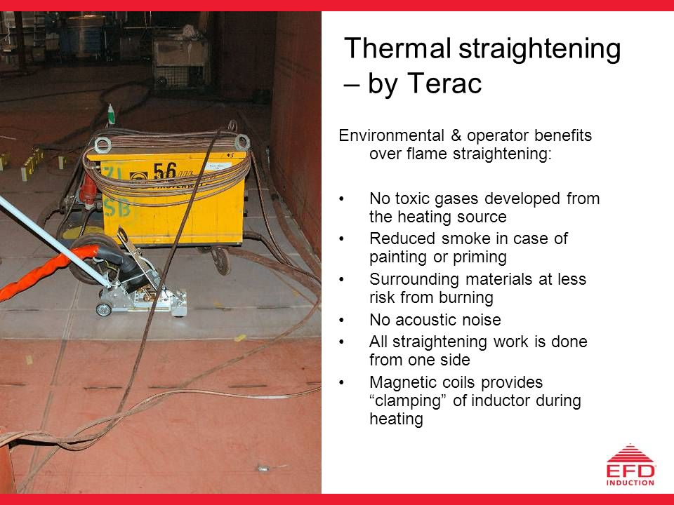 thermal straightening