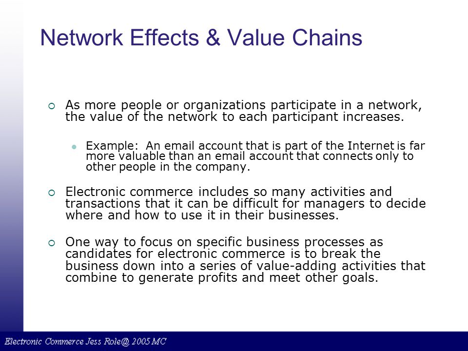 Network Effects & Value Chains