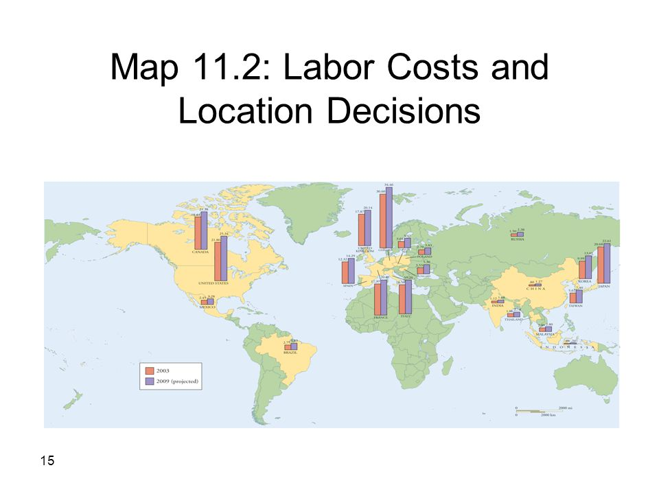 costs and location Location planning and analysis the need for location decisions: determine which location will have the lowest total cost for the expected level of output.
