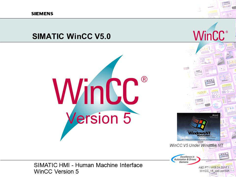 SIMATIC WinCC V5 0 WinCC V5 Under Windows NT