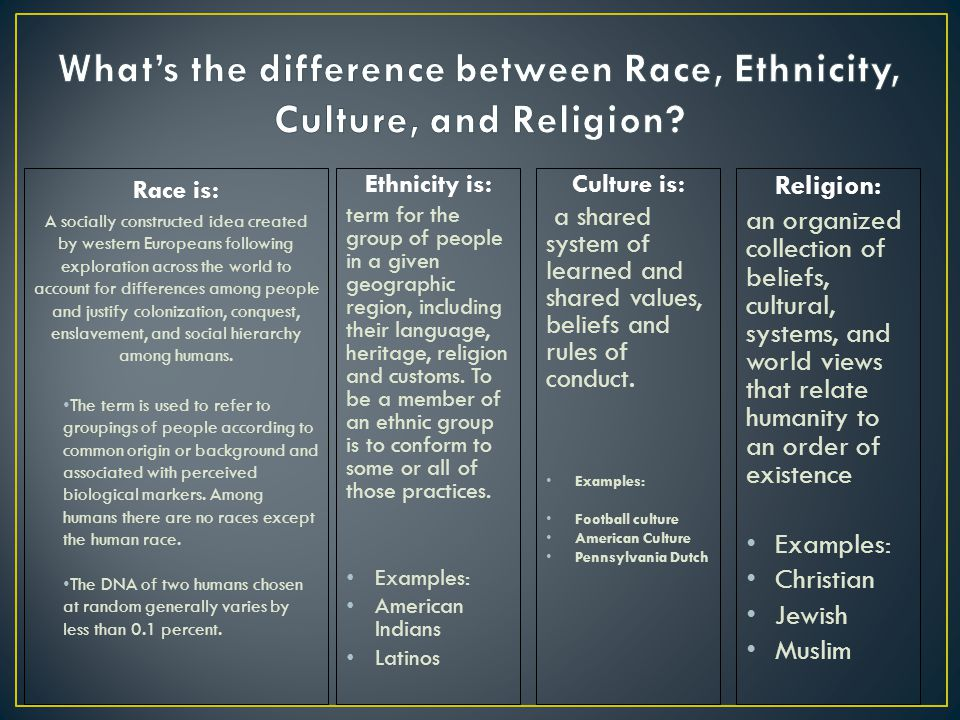 Difference between race and ethnicity essay