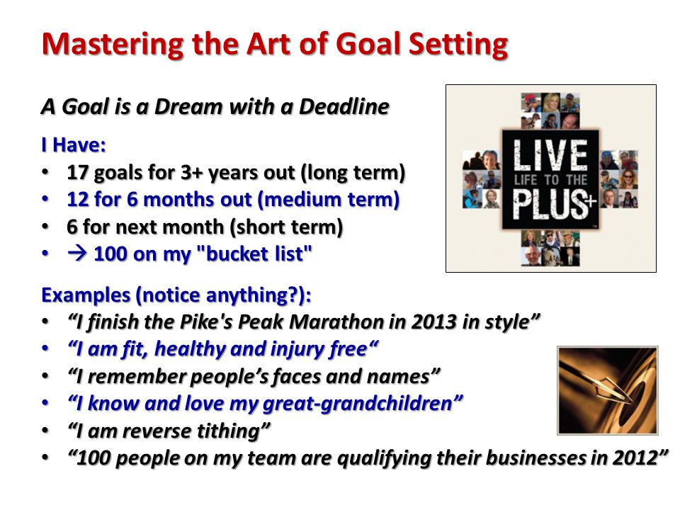 mastering the art of goal setting