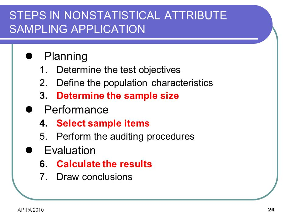 INTRODUCTION TO NONSTATISTICAL SAMPLING FOR AUDITORS - ppt download