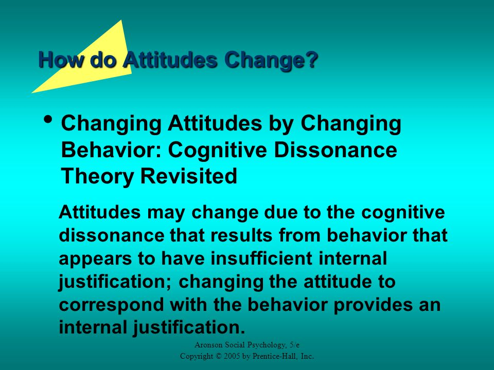 Attitudes and Attitude Change: Influencing Thoughts and ...