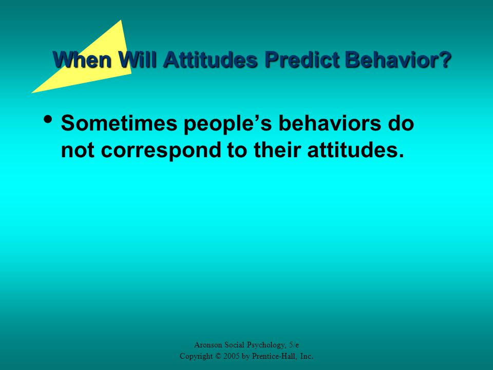 how do attitudes predict behavior The role of general and specific attitudes in predicting travel behavior  and predict travel behavior  circumstances do attitudes influence behavior.