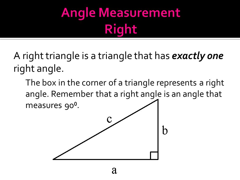 Angle Measurement Right