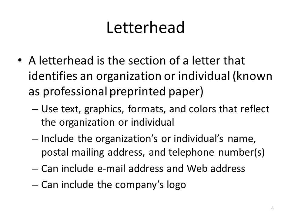 professional letter header