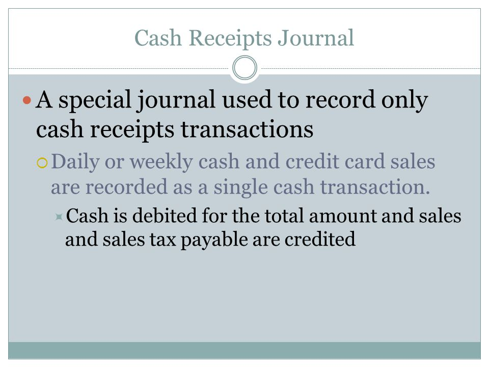 how to create a cash receipts journal