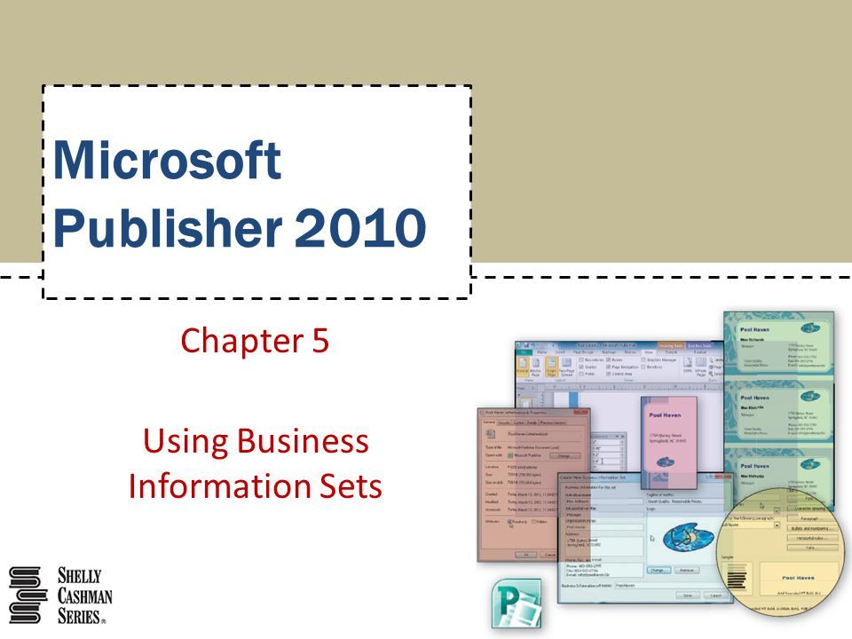 Chapter 5 Using Business Information Sets
